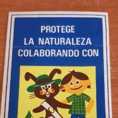 Pegatinas de colección: ADHESIVO / PEGATINA / ICONA / PROTEGE LA NATURALEZA / AÑOS 80 / ENVÍO INCLUIDO.. Lote 214472038