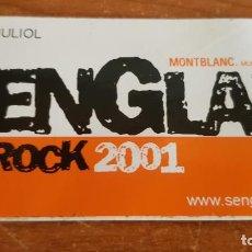 Pegatinas de colección: ADHESIVO / PEGATINA / SENGLAR ROCK 2001 / MONTBLANC / SIN DESPEGAR / ENVÍO INCLUIDO.. Lote 214473856