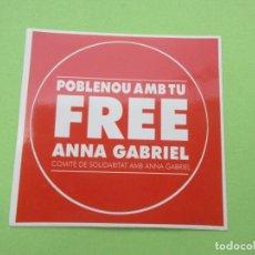 Autocolantes de coleção: PEGATINA POLITITICA COMITE DE SOLIDARITAT AMB ANA GABRIEL. Lote 214688657