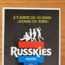 Pegatinas de colección: RUSSKIES PEGATINA CARTEL CINE. Lote 215088278