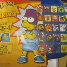 Autocollants de collection: POSTER DE PEGATINAS CHEETOS THE SIMPSONS BARTMAN COMPLETO. Lote 215277063