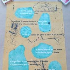 Pegatinas de colección: CARTEL SINDICATO ESPAÑOL UNIVERSITARO SEU - DEPÓSITO LEGAL 1961. Lote 215961120