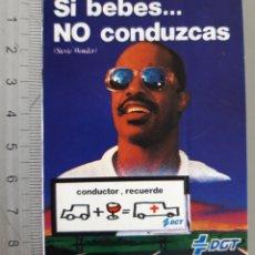 Pegatinas de colección: CAMPAÑA DGT AÑO 1985 , SI BEBES...NO CONDUZCAS. Lote 216362255