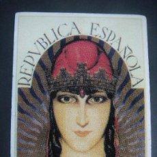 Autocolantes de coleção: PEGATINA DE LA REPUBLICA ESPAÑOLA 14 DE ABRIL DE 1931-CAJ-Nº-1. Lote 216904795