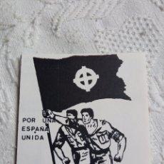 Pegatinas de colección: PEGATINA POLÍTICA TRANSICIÓN CEDADE. FALANGE.FUERZA NUEVA.FRANCO.FRENTE NACIONAL.ABORTO.UCD.CDS.AP.P. Lote 217454406