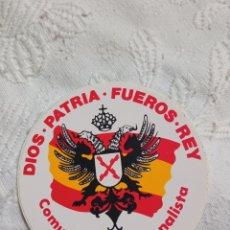 Pegatinas de colección: PEGATINA POLÍTICA TRANSICIÓN CEDADE. FALANGE.FUERZA NUEVA.FRANCO.FRENTE NACIONAL.ABORTO.UCD.CDS.AP.P. Lote 217454597
