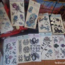 Pegatinas de colección: LOTE DE 10 TATTOO AÑOS 90. Lote 218150023
