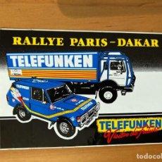 Pegatinas de colección: PEGATINA RALLYE PARIS-DAKAR TELEFUNKEN. Lote 218411288