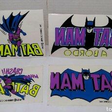 Pegatinas de colección: LOTE 4 PEGATINAS BATMAN PARA COCHE. NUEVAS. 1989. BATMAN A BORDO. DC COMIC INC.. Lote 220535510