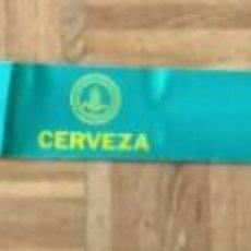 Pegatinas de colección: ANTIGUA PEGATINA-VISERA PARA LUNA DE AUTOMOVIL - CERVEZA SAN MIGUEL - 129 CM.. Lote 220556155
