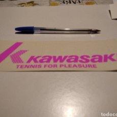 Pegatinas de colección: PEGATINA KAWASAKI TENNIS FOR PLEASURE. Lote 221429048