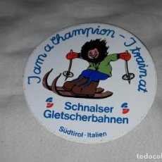 Pegatinas de colección: PEGATINA SCHNALSER GLETSCHERBAHNEN SKI. Lote 221578210