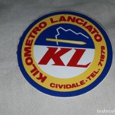 Pegatinas de colección: PEGATINA KL KILOMETRO LANCIATO. Lote 221579733