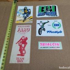Adesivi di collezione: LOTE PEGATINAS 5 UNIDADES. BMX. TRIALSIN.. Lote 221663501