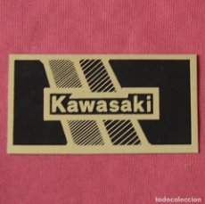 Pegatinas de colección: KAWASAKI - PEGATINA PLATEADA Y NEGRA - MOTOS. Lote 221895246