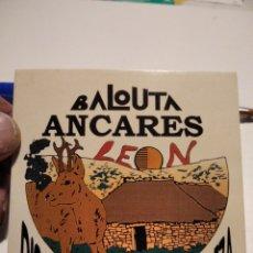 Pegatinas de colección: BALOUTA ANCARES, LEÓN DISFRUTA LA NATURALEZA. Lote 222284063