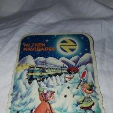 Pegatinas de colección: PEGATINAS TRENES RENFE MI TREN NAVIDADES AÑOS 80. Lote 222487060