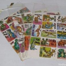 Autocollants de collection: PEGATINAS DINOS. COLECCIÓN COMPLETA. NUEVO. EDITORIAL ASTRI.1991.4 LÁMINAS 13 ADHESIVOS.DINOSAURIOS.. Lote 222951726