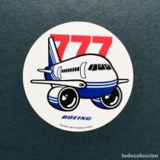 Adesivi di collezione: BOEING PEGATINA CARICATURA DE B-777. Lote 223750657