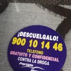 Pegatinas de colección: PARTIDO POPULAR TELÉFONO CONTRA LA DROGA. Lote 288413233