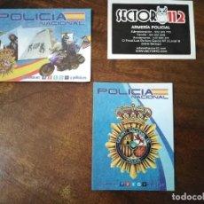 Autocolantes de coleção: LOTE DE 3 PEGATINAS DE LA POLICÍA NACIONAL.. Lote 223932003