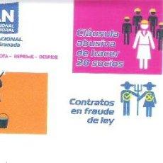 Autocolantes de coleção: PEGATINAS POLITICAS - 1 PEGATINA POLITICA CNT-AIT - PLAN INTERNACIONAL PRECARIEDAD LABORAL. Lote 224219272