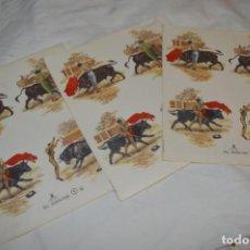 Pegatinas de colección: LOTE 3 HOJAS / PLIEGOS - CALCAMONÍAS CON MOTIVOS TAURINOS / MUY BONITOS ¡MIRA FOTOS Y DETALLES!. Lote 267555409