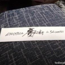 Pegatinas de colección: PEGATINA ASAMBLEA DE SOLIDARIDAD CON LA AMAZONIA. Lote 224686172