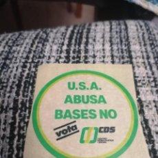 Pegatinas de colección: PEGATINA CDS USA ABUSA BASES NO. Lote 242903955