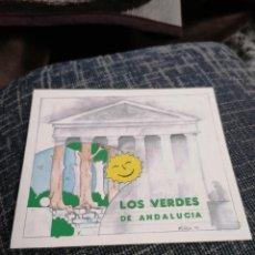 Pegatinas de colección: PEGATINA LOS VERDES DE ANDALUCÍA. Lote 288413503