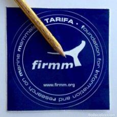 Adesivi di collezione: FIRMM FOUNDATION FOR INFORMATION AND RESEARCH OF MARINE MAMMALS TARIFA. Lote 225557237