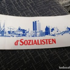 Pegatinas de colección: PEGATINA POLITICA LUXEMBURGO D'SOZIALISTEN. Lote 225927455