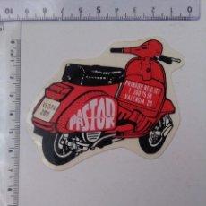 Autocolantes de coleção: PEGATINA MOTO VESPA TALLER PASTOR VALENCIA... Lote 226027577