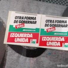 Pegatinas de colección: PEGATINA POLITICA IZQUIERDA UNIDA ANDALUCÍA OTRA FORMA DE GOBERNAR. Lote 288413463