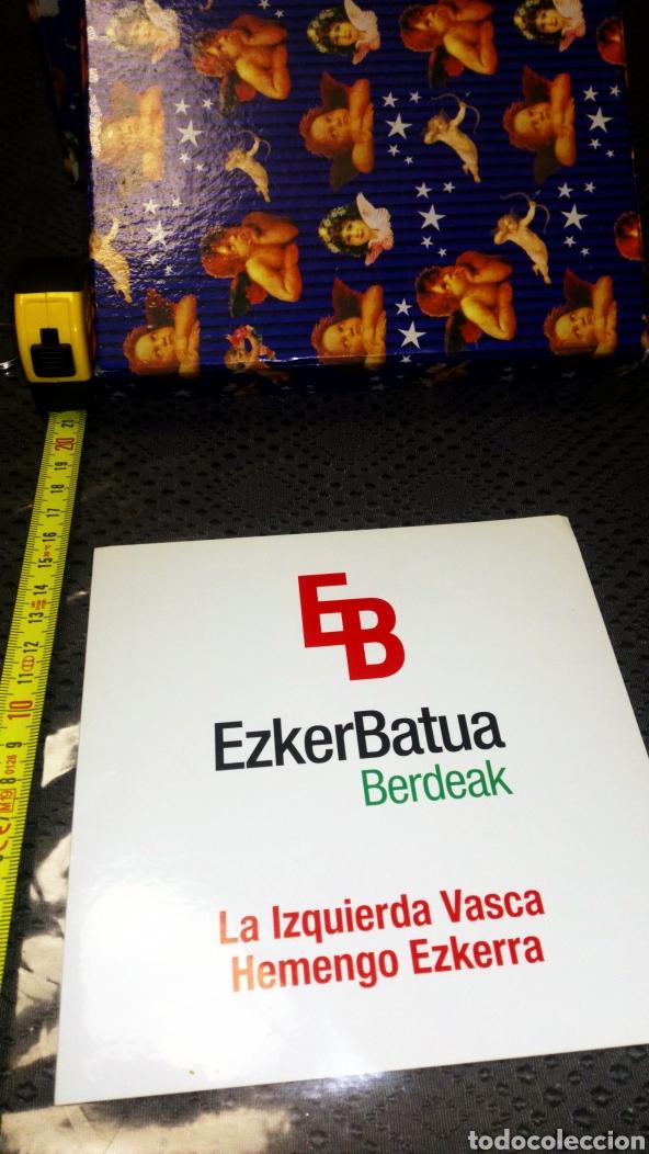 PEGATINA GRANDE POLÍTICA POLÍTICO VASCO VASCA IZQUIERDA EZKER BATUA IZQUIERDA UNIDA IU (Coleccionismos - Pegatinas)