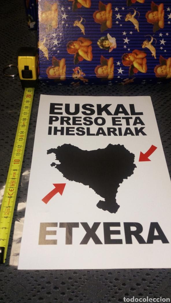 PEGATINA POLÍTICA POLÍTICO VASCO VASCA IZQUIERDA ABERTZALE EUSKAL PRESOAK HERRIRA IHESLARIAK (Coleccionismos - Pegatinas)