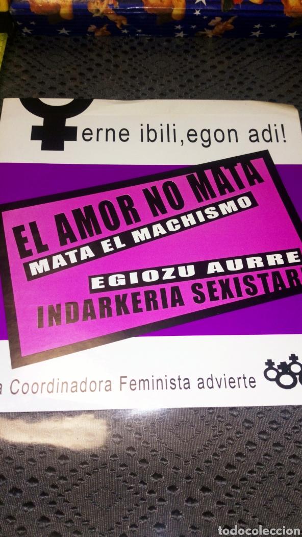 Pegatinas de colección: Pegatina gran tamaño feminista antimachista en castellano y euskera - Foto 2 - 228212865