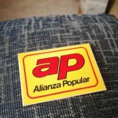 Pegatinas de colección: PEGATINA ALIANZA POPULAR PLASTIFICADA. Lote 228674455