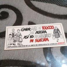 Pegatinas de colección: PEGATINA CCOO GANAR MÁS DE 100000 ME ALEGRA. Lote 288413543