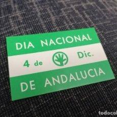 Pegatinas de colección: PEGATINA PARTIDO ANDALUCISTA DÍA NACIONAL DE ANDALUCÍA. Lote 288413513