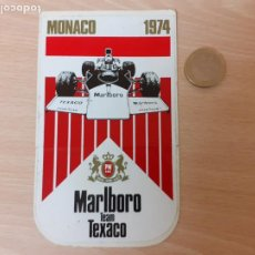 Pegatinas de colección: ANTIGUA PEGATINA / ADHESIVO MARLBORO TEAM TEXACO MONACO 1974. Lote 259916935