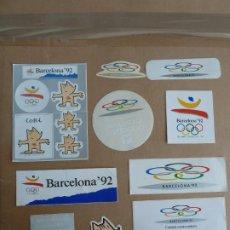 Pegatinas de colección: JUEGOS OLIMPICOS BARCELONA 92 COBI LOTE 11 ADHESIVOS PEGATINAS ORIGINALES. Lote 230214430