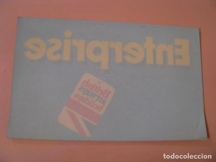 PEGATINA PARA CRISTAL. ENTERPRISE. BRITISH AIRWAYSHOLIDAYS. 20X12,5 CM. (Coleccionismos - Pegatinas)