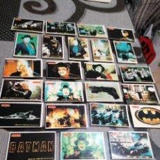Pegatinas de colección: PEGATINAS BATMAN 24 MODELOS FIESTA. Lote 232346335