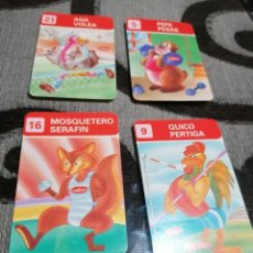 Pegatinas de colección: PEGATINAS CUÉTARA GALLETAS 4 MODELOS DEPORTES ANIMALES. Lote 232348500