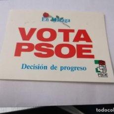 Autocollants de collection: PEGATINA VOTA PSOE EN MÁLAGA. Lote 233917370