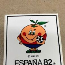 Pegatinas de colección: PEGATINA ESPAÑA 82 NARANJITO. Lote 236406740