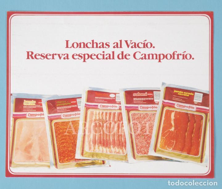 ANTIGUA PEGATINA - LONCHAS AL VACÍO - CAMPOFRÍO - LA DE LAS FOTOS, COMO EN LAS FOTOS (Coleccionismos - Pegatinas)