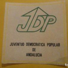 Pegatinas de colección: ANTIGUA PEGATINA POLITICA.JDP.JUVENTUD DEMOCRATICA POPULAR ANDALUCIA.. Lote 236458930