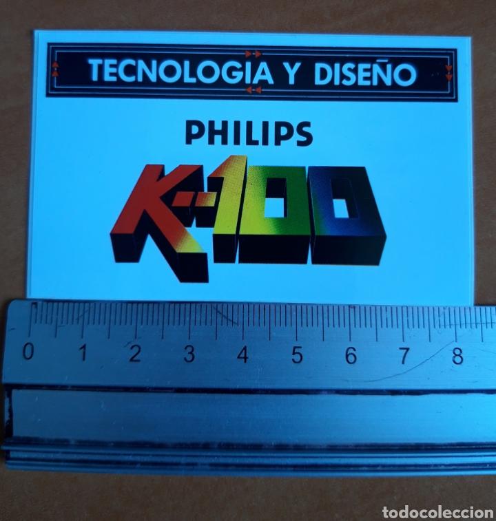 PEGATINA PHILIPS ELECTRÓNICA AÑOS 80' (Coleccionismos - Pegatinas)